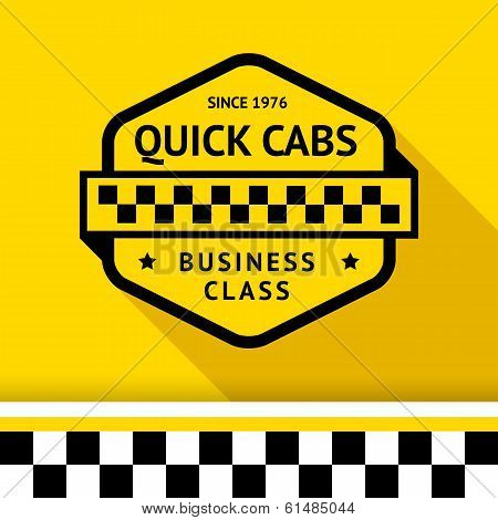 Taxi badge with shadow -