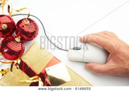 Online Internet Christmas Shopping Concept