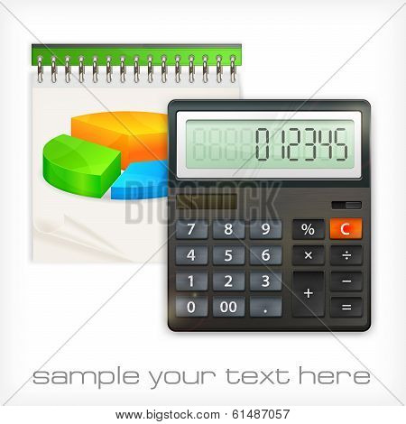 Calculator & Notepad Diagram