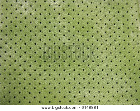 OliveDrab - Green leather pattern.
