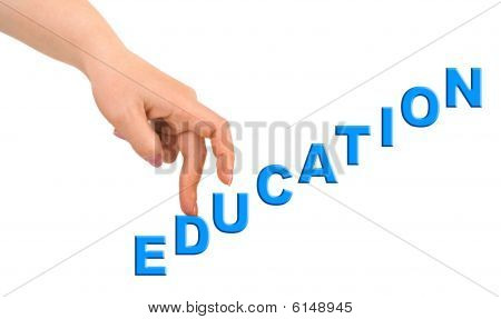 Hand And Stairs Education