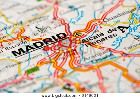 Road Map Around Madrid