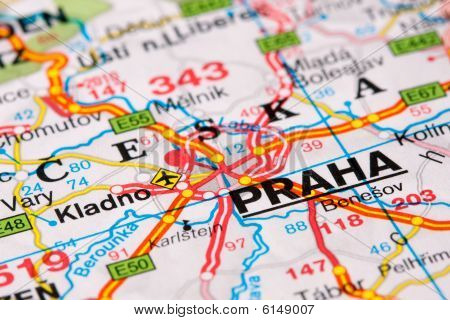 Road Map Around Prague