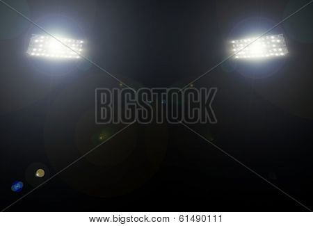 spotlight over the stadium
