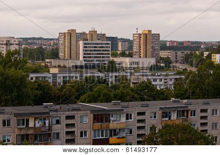 Typical socialist block of flats in Vilnius