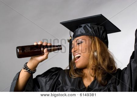 Happy Graduate Partying