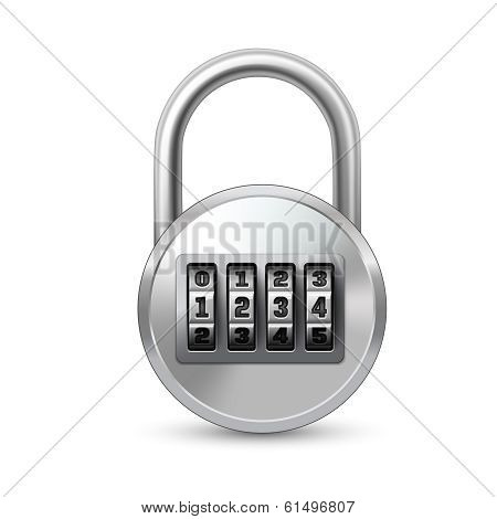 Realistic lock with combination code