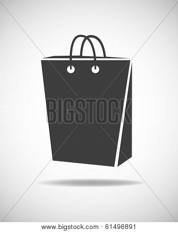 Shopping Bag Grey Icon
