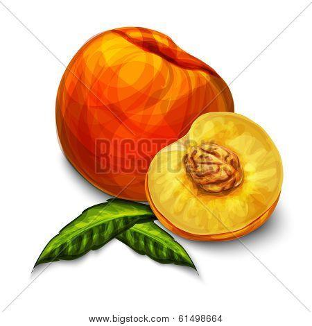 Orange natural organic peach fruit