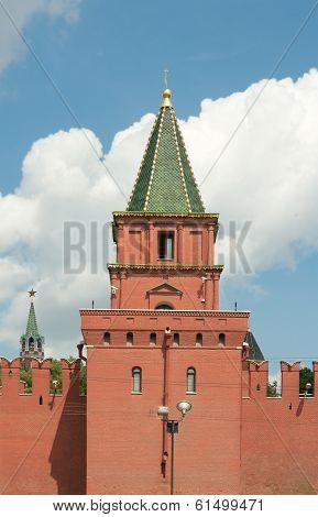 Petrovskaya (ugreshskaya) Tower Of Moscow Kremlin, Moscow, Russia