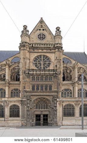 Church saint-Eustache (Paris France), one of the facades of the church