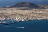 pic of canary-islands  - view to La Graciosa Island from Mirador del Rio - JPG