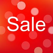 Red Sale Poster With Bokeh, With Gradient Mesh, Vector Illustration