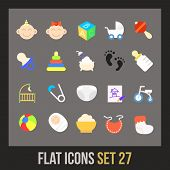 stock photo of flat-bed  - Flat icons set 27  - JPG