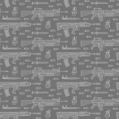 picture of m16  - Seamless military pattern pattern can be used for graphic design - JPG