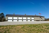 stock photo of fire-station  - New Commercial Metal Building to be utilized as a New Fire Station - JPG