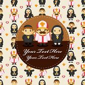 picture of nun  - cartoon Priest and nun card - JPG