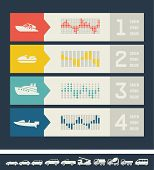 image of motor-bus  - Flat Transportation Infographic Elements plus Icon Set - JPG