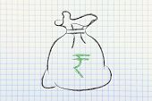 foto of indian currency  - money bag with currency symbol - JPG