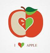 picture of love bite  - I Love Apple - JPG