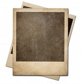 stock photo of path  - Grunge instant photo polaroid frames isolated - JPG