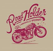 stock photo of apparel  - Vintage retro illustration typography t - JPG