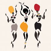 pic of  dancer  - Figures of african dancers - JPG