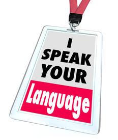 pic of dialect  - I Speak Your Language Badge Translator Service - JPG
