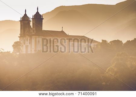 View Of The Unesco World Heritage City Of Ouro Preto In Minas Gerais Brazil View Of The Unesco World
