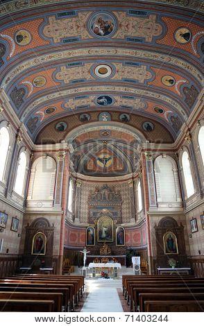 TRAVNIK, BOSNIA AND HERZEGOVINA - JUNE 11: Church of St. Aloysius in Travnik, Bosnia and Herzegovina on June 11, 2014.