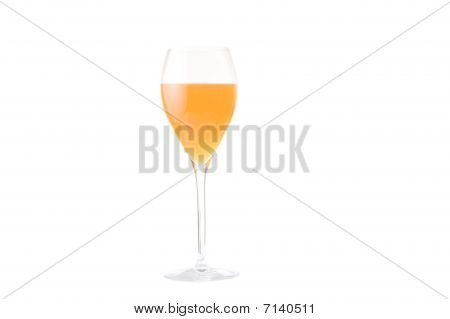 Orange wineglass