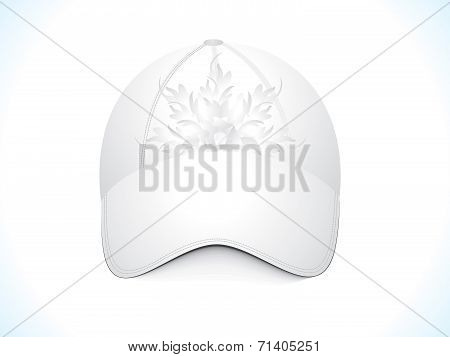 Abstract Floral Cap Template