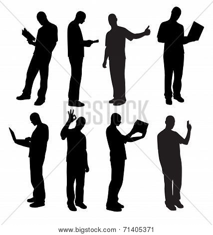 Male Silhouettes Vector