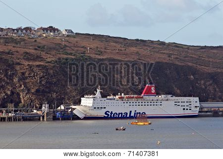 Wales to Ireland ferry ship