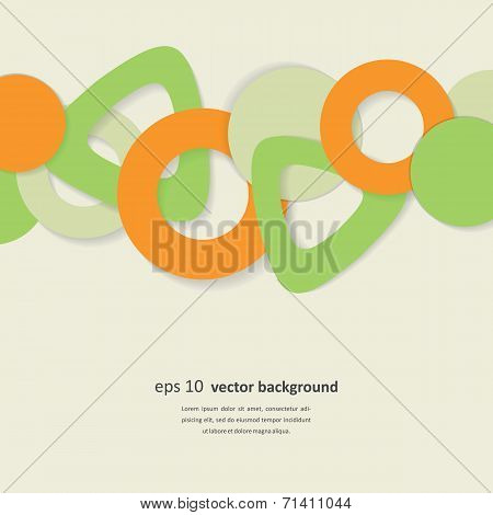 Neutral Background With Geometrical Figures
