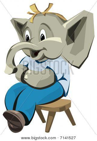 Boy elephant character