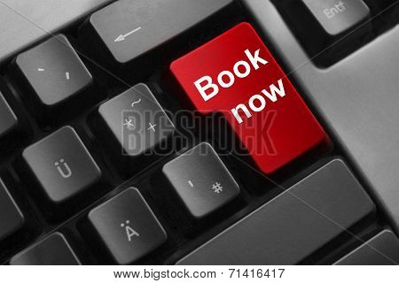 Keyboard Red Button Book Now Travel