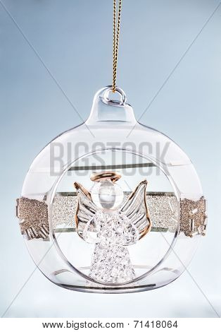 Christmas ball with angel inside