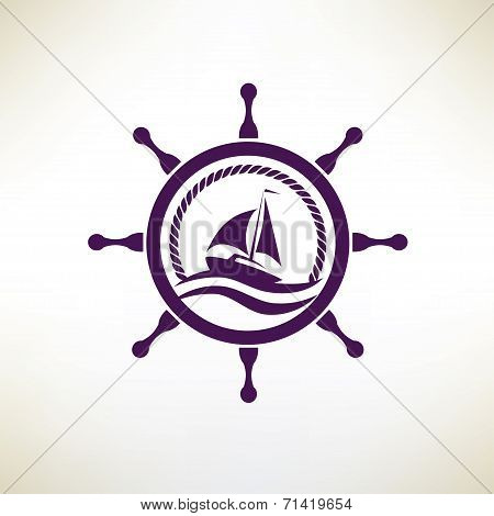 Yacht Symbol, Regatta And Travel Concept