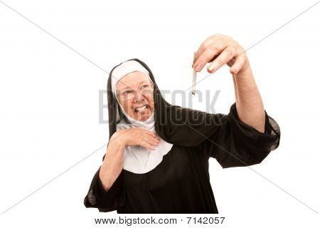 Nun Disgusted By Cigarette
