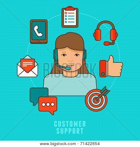 Vector Flat Customer Service Concept