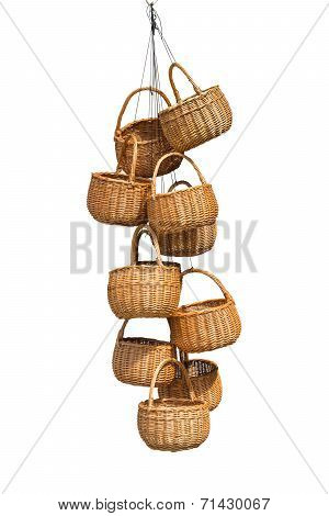 Wicker baskets.