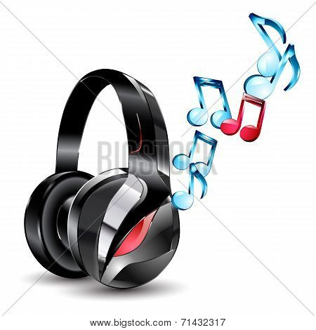 vector illustration of modern big headphones