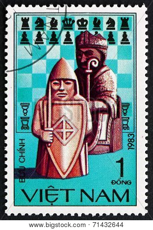 Postage Stamp Vietnam 1983 Chess Pieces