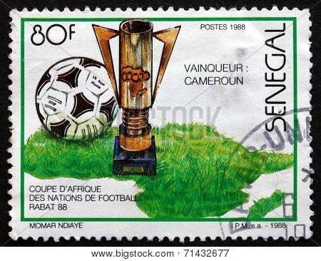 Postage Stamp Senegal 1988 Cameroun Winner
