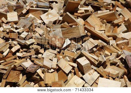 Scrap Heap Of Wooden Planks