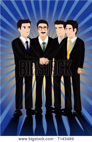ein Handshake ist ausreichend, um ein Geschäft in Business-Dichtung