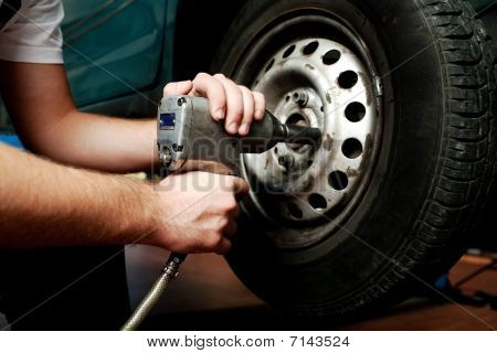 Changing Wheel On Car