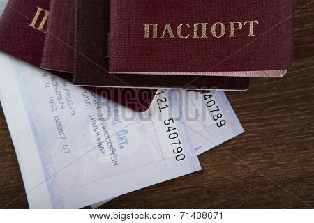 Passport In The Train Tickets