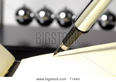 Fountain Pen And Pad